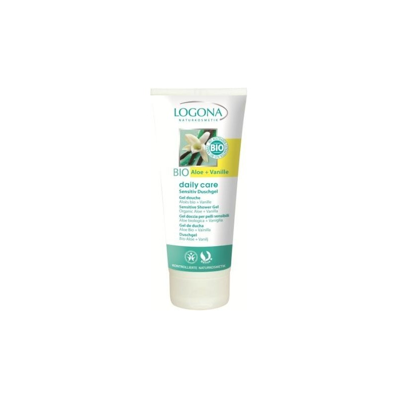 GEL DE DUCHA DAILY CARE CON ALOE Y VAINILLA LOGONA. 200 ml