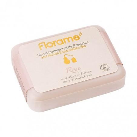 JABÓN EN PASTILLA DE ROSA FLORAME. 100 g