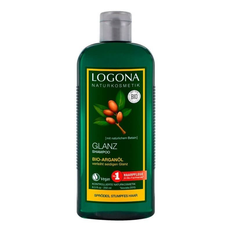 CHAMPÚ BRILLO DE ARGÁN LOGONA. 250 ml