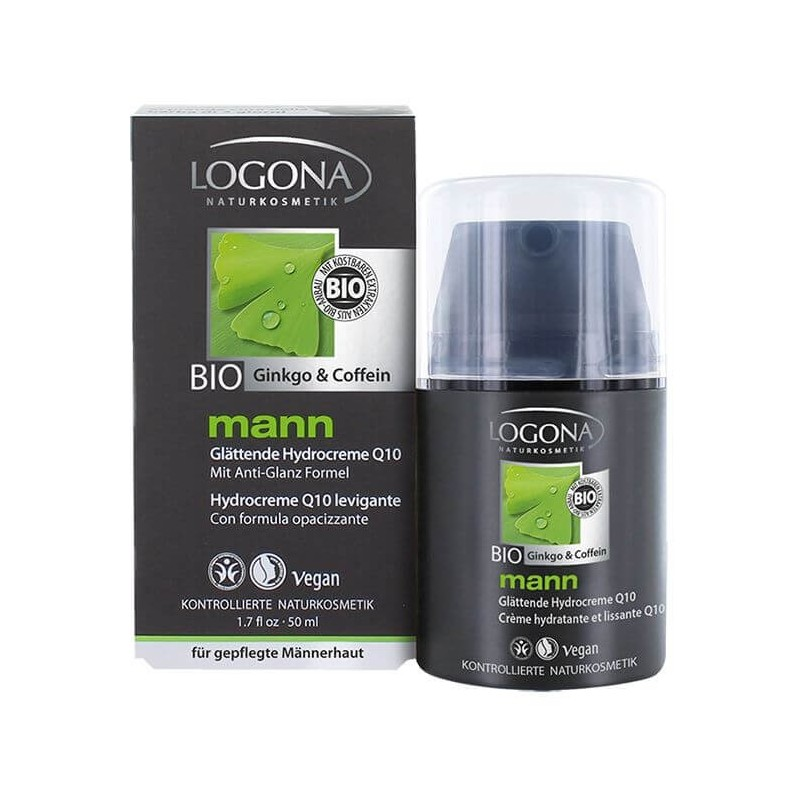 CREMA HIDRATANTE MANN CON Q10 LOGONA. 50 ml
