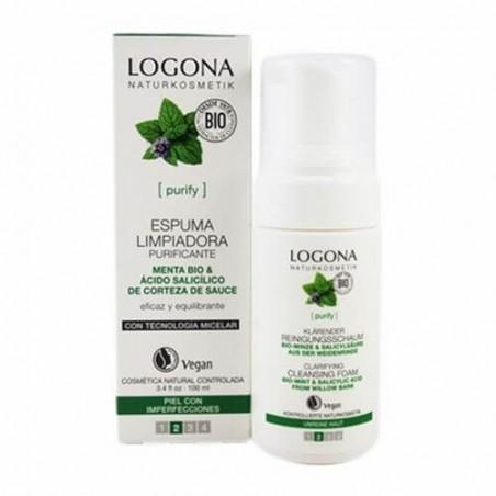 ESPUMA LIMPIADORA PURIFICANTE DE MENTA LOGONA. 100 ml