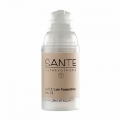 MAQUILLAJE SOFT CREAM FOUNDATION 02 LIGHT BEIGE SANTE 30 ml