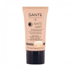 MAQUILLAJE FLUIDO MATE EVERMAT 01 NATURAL SANTE 30 ml
