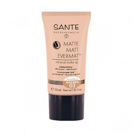 MAQUILLAJE FLUIDO MATE EVERMAT SANTE. 30 ml