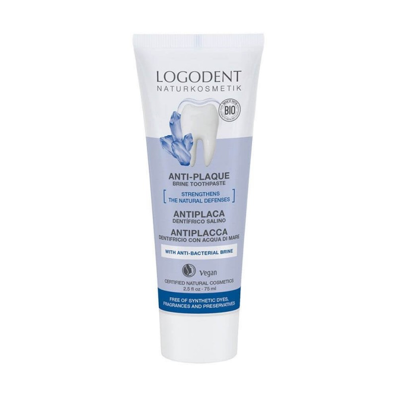 DENTÍFRICO ANTIPLACA SALINO LOGONA. 75 ml