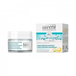 CREMA HIDRATANTE ANTIARRUGAS CON Q10 BASIS SENSITIV LAVERA 50 ml