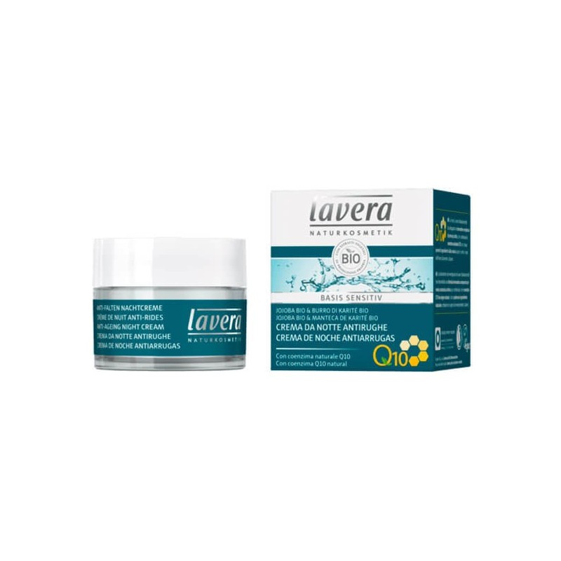 CREMA DE NOCHE ANTIEDAD CON Q10 BASIS SENSITIV LAVERA. 50 ml