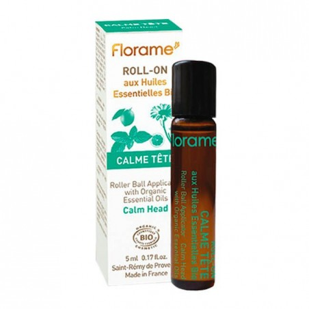 ACEITE ESENCIAL ROLL-ON DOLOR CABEZA FLORAME. 5 ml