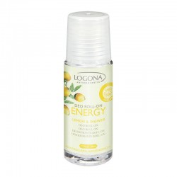 DESODORANTE EN ROLL-ON ENERGY CON LIMÓN Y JENGIBRE LOGONA. 50 ml