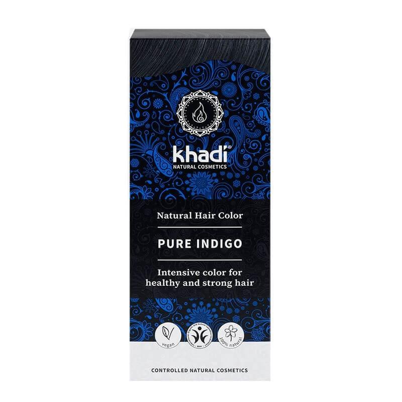 TINTE VEGETAL ÍNDIGO PURO NEGRO KHADI 100 g