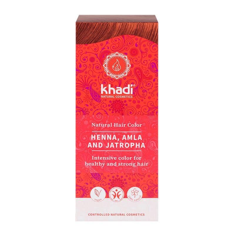 HENNA NATURAL CON AMLA Y JATROPHA KHADI 100 g
