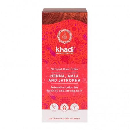 HENNA NATURAL CON AMLA Y JATROPHA KHADI. 100 g