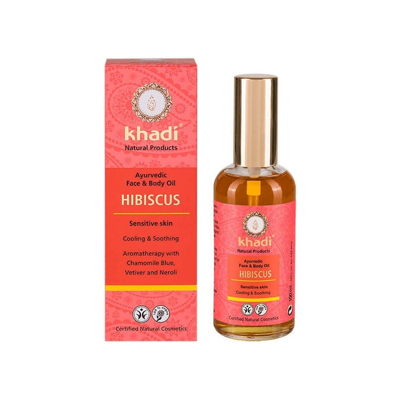 ACEITE CORPORAL Y FACIAL DE HIBISCO PARA PIEL SENSIBLE KHADI 100 ml
