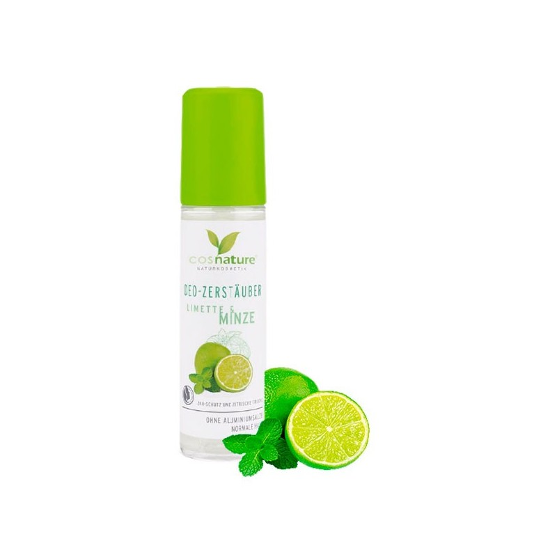 DESODORANTE EN SPRAY MENTA Y LIMA COSNATURE 250 ml