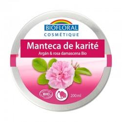 MANTECA DE KARITÉ, ARGÁN Y ROSA DAMASCENA BIOFLORAL 200 ml
