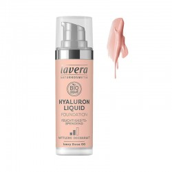 MAQUILLAJE FLUIDO HYALURON 00 IVORY ROSE LAVERA 30 ml