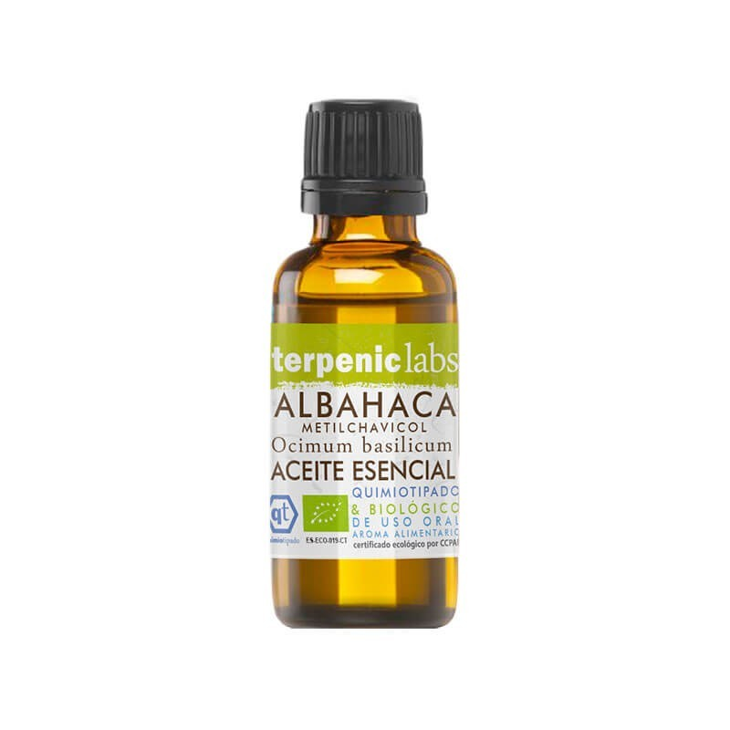 ACEITE ESENCIAL DE ALBAHACA METIL CHAVICOL (OCIMUM BASILICUM) TERPENIC 30 ml