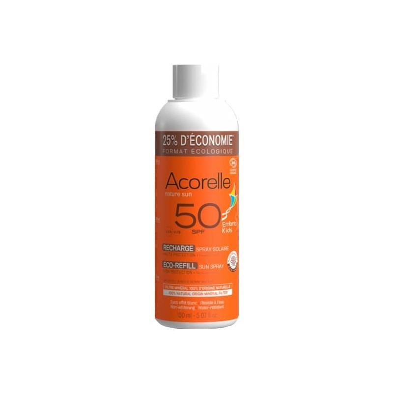RECARGA-SPRAY-SOLAR-NIÑOS-SPF-50-ACORELLE-150-ml